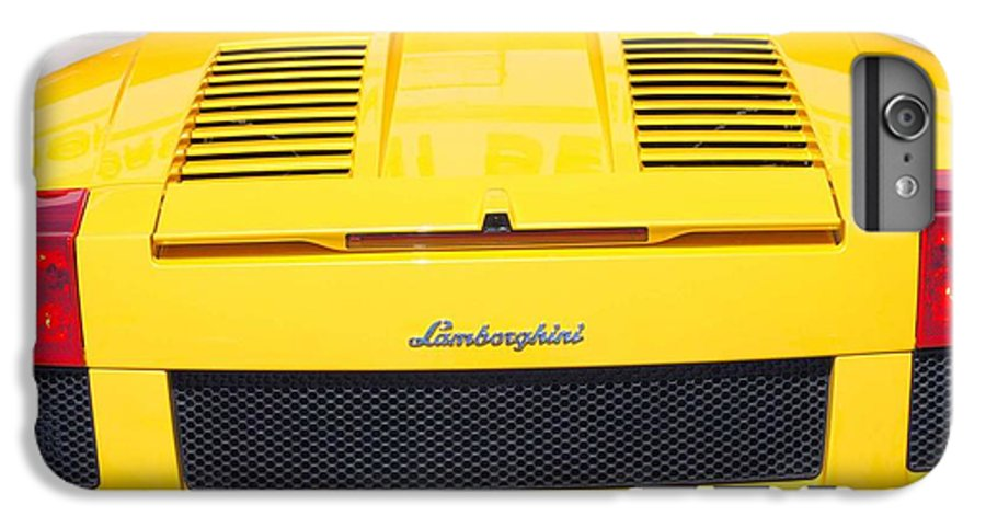 Wheels IPhone 6 Plus Case featuring the photograph Bill's Lambo by Margaret Fortunato