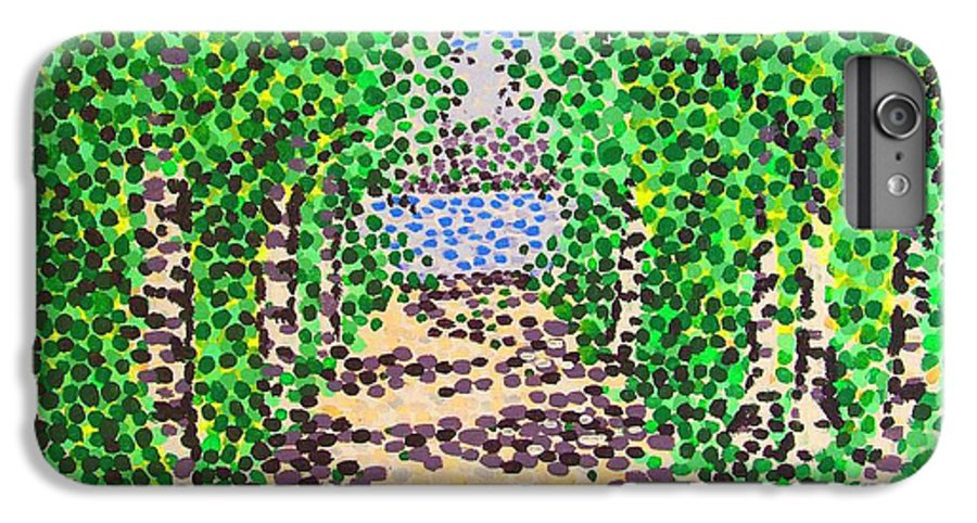 Path IPhone 6 Plus Case featuring the painting Birch Path by Alan Hogan