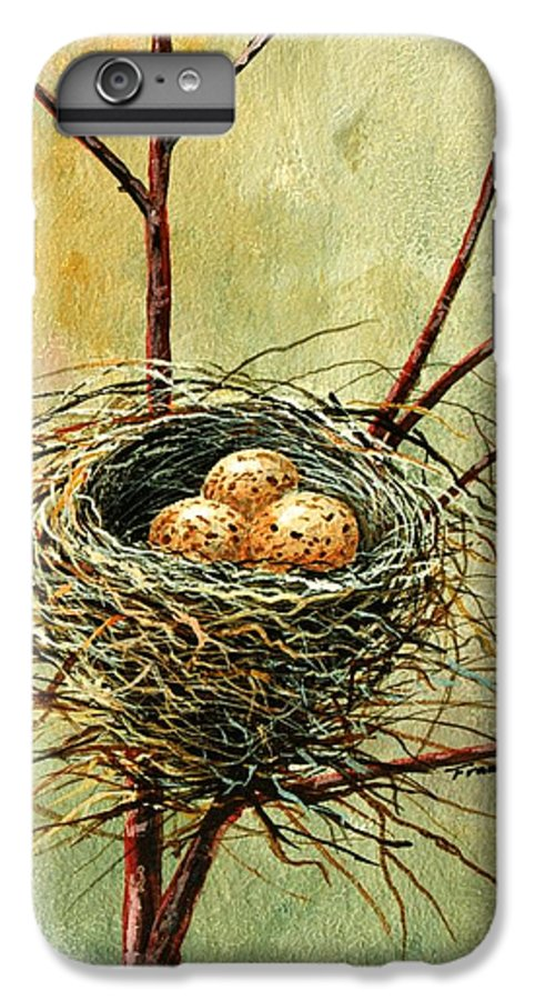 Still Life IPhone 6 Plus Case featuring the painting Bird Nest by Frank Wilson