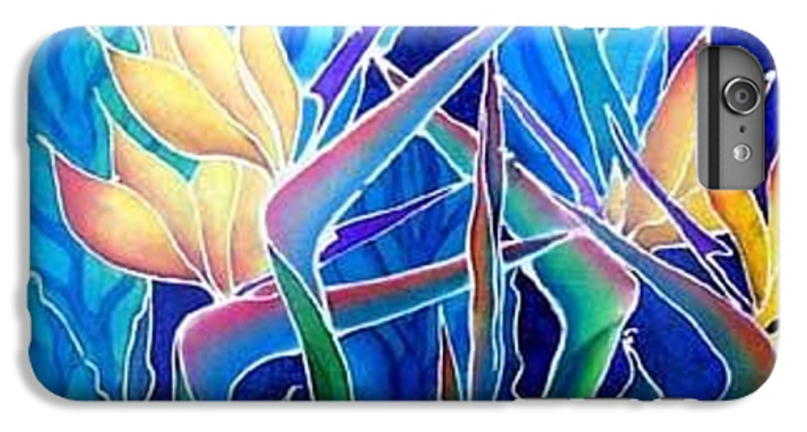 Silks IPhone 6 Plus Case featuring the painting Birds Of Paradise by Francine Dufour Jones