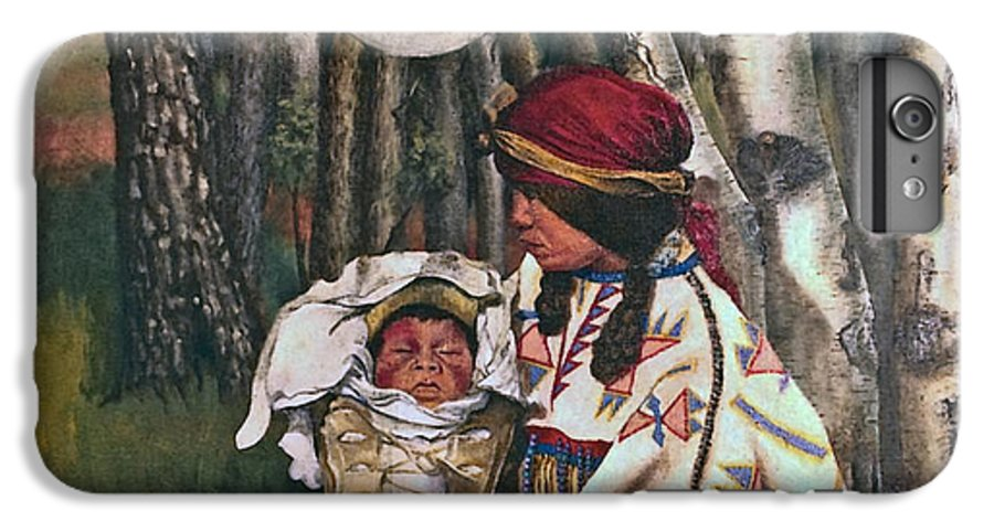 Native American IPhone 6 Plus Case featuring the painting Birth Spirit by Peter Muzyka