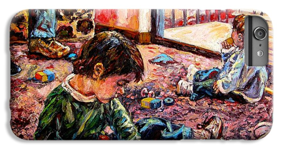 Figure IPhone 6 Plus Case featuring the painting Birthday Party Or A Childs View by Kendall Kessler