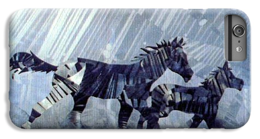 Wildlife IPhone 6 Plus Case featuring the painting Black And White Nineteen Fifty Six by Rick Silas