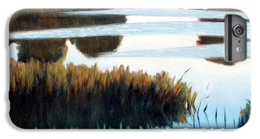 Water IPhone 6 Plus Case featuring the painting Black Bayou by Kevin Lawrence Leveque