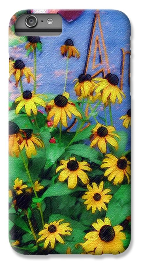 Flowers IPhone 6 Plus Case featuring the photograph Black-eyed Susans At The Bag Factory by Sandy MacGowan