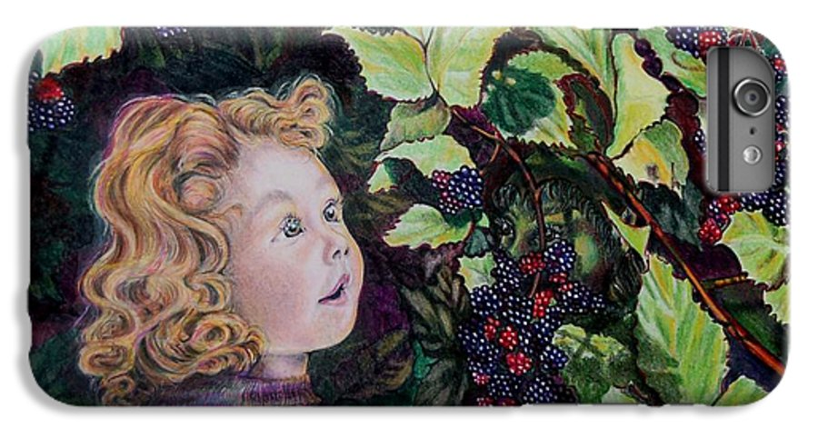 Blackberry IPhone 6 Plus Case featuring the drawing Blackberry Elf by Susan Moore