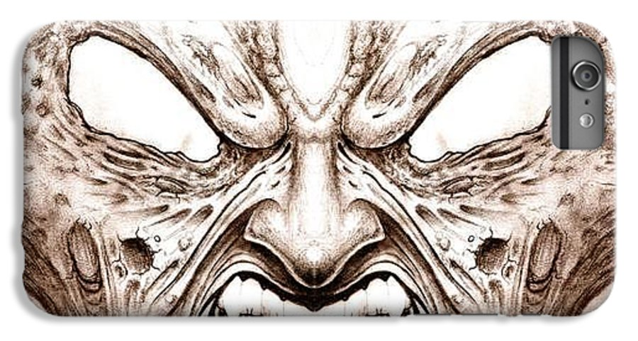 Anger IPhone 6 Plus Case featuring the drawing Blind Fury by Will Le Beouf