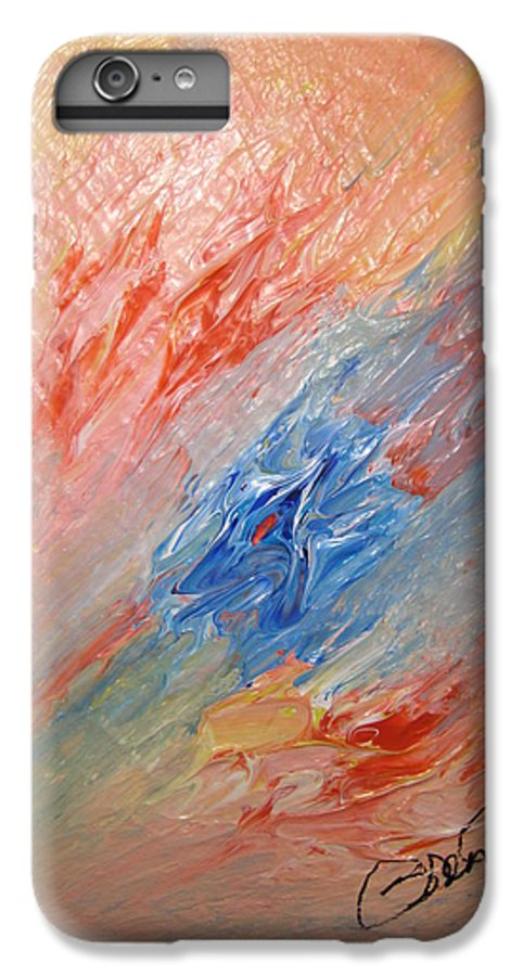 Abstract IPhone 6 Plus Case featuring the painting Bliss - B by Brenda Basham Dothage