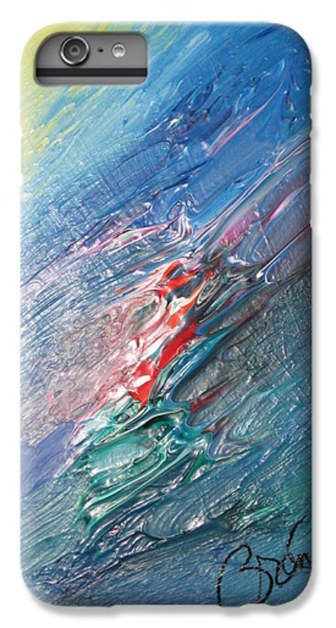 Abstract IPhone 6 Plus Case featuring the painting Bliss - F by Brenda Basham Dothage