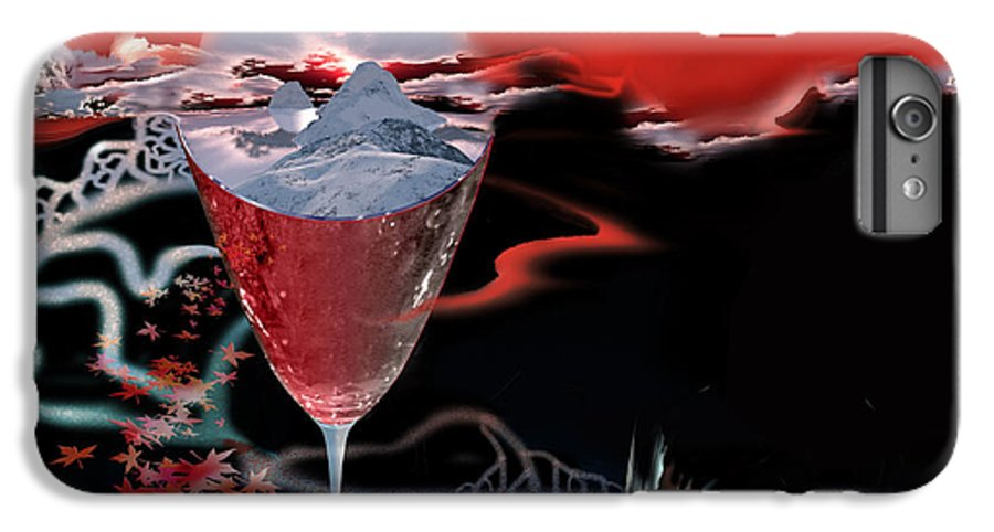 Blood IPhone 6 Plus Case featuring the digital art Blood Red From Pure White by Jennifer Kathleen Phillips