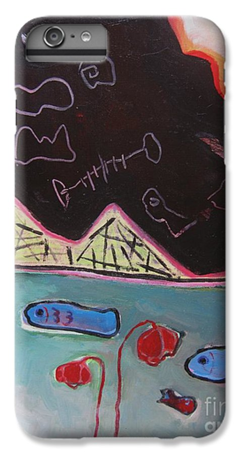 Blow Me Down Painting IPhone 6 Plus Case featuring the painting Blow Me Down11 by Seon-Jeong Kim