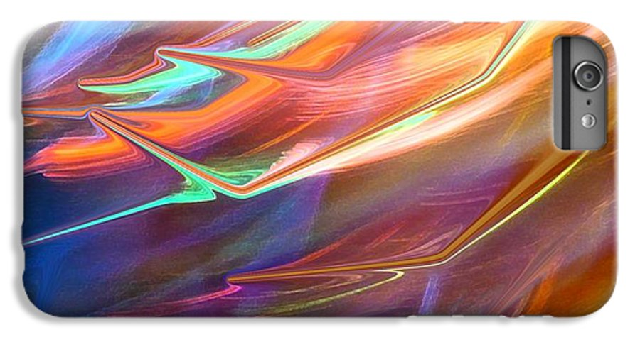 Abstract IPhone 6 Plus Case featuring the photograph Blown Away by Florene Welebny