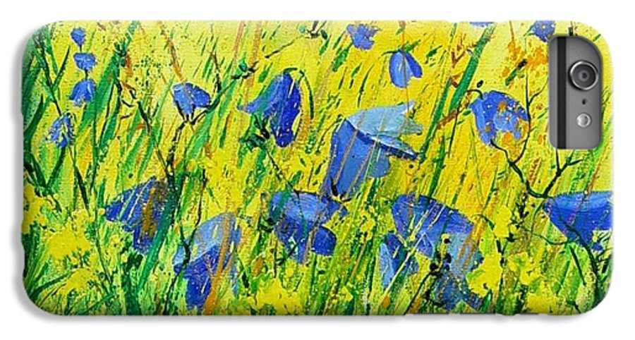 Poppies IPhone 6 Plus Case featuring the painting Blue Bells by Pol Ledent