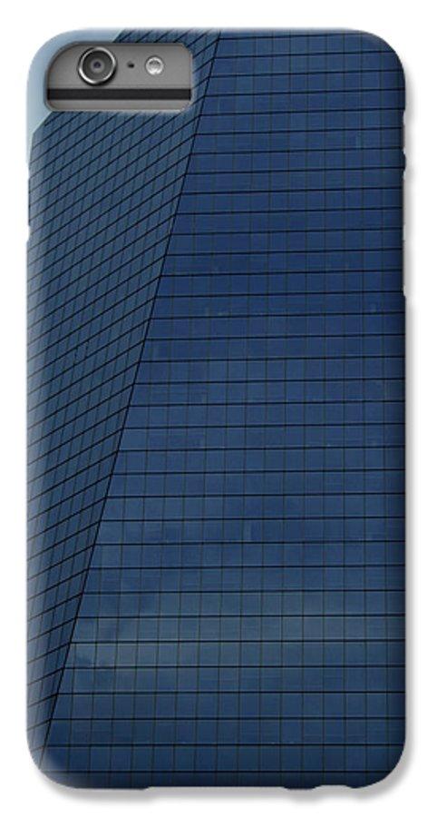 City IPhone 6 Plus Case featuring the photograph Blue Building by Linda Sannuti