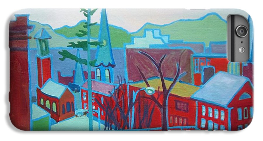Burlington IPhone 6 Plus Case featuring the painting Blue Burlington by Debra Bretton Robinson
