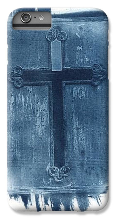 Cyanotype IPhone 6 Plus Case featuring the photograph Blue Cross by Jane Linders