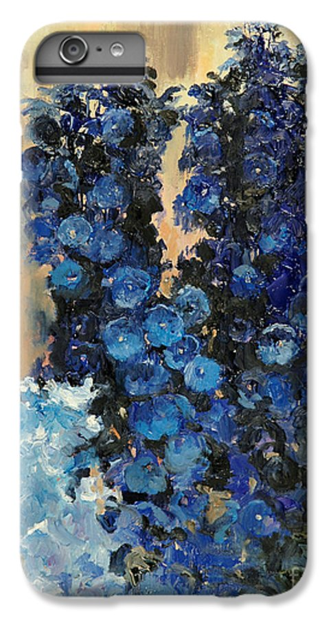 Floral IPhone 6 Plus Case featuring the painting Blue Delphiniums For Nancy by Glenn Secrest