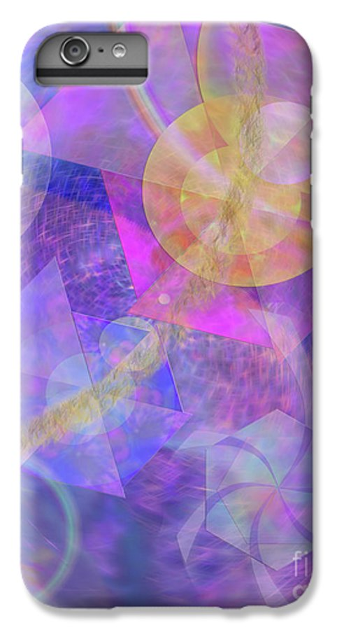 Blue Expectations IPhone 6 Plus Case featuring the digital art Blue Expectations by John Beck
