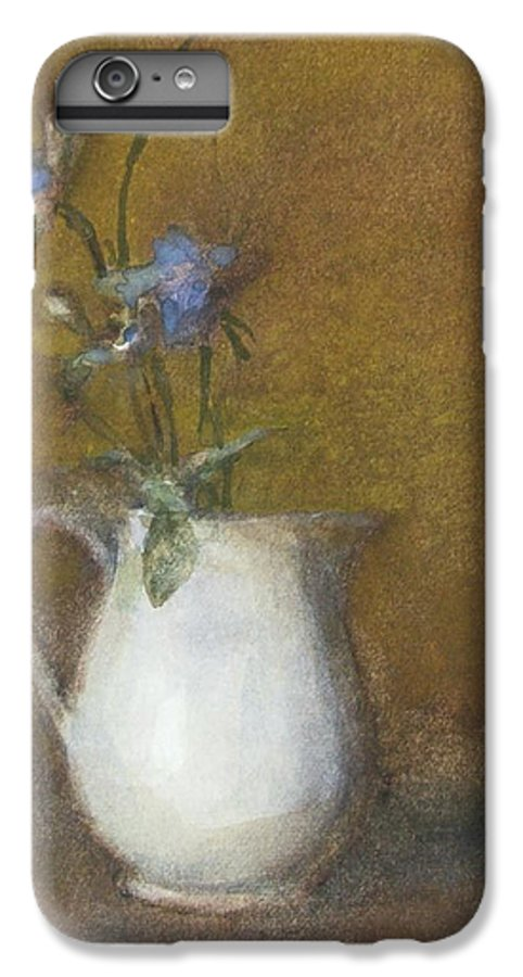 Floral Still Life IPhone 6 Plus Case featuring the painting Blue Flower by Joan DaGradi