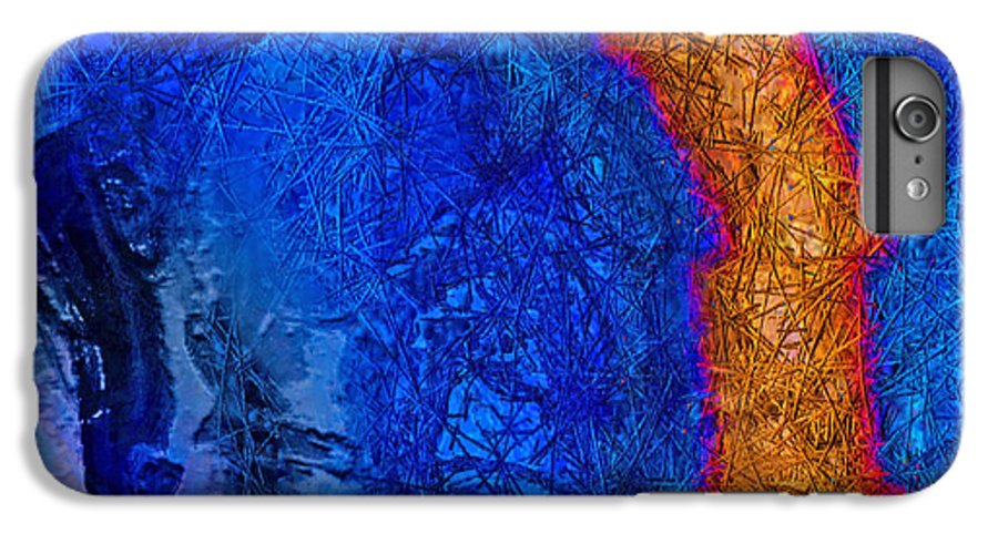 Abstract IPhone 6 Plus Case featuring the painting Blue Force by Dee Flouton