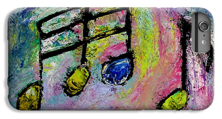 Impressionist IPhone 6 Plus Case featuring the painting Blue Note by Anita Burgermeister