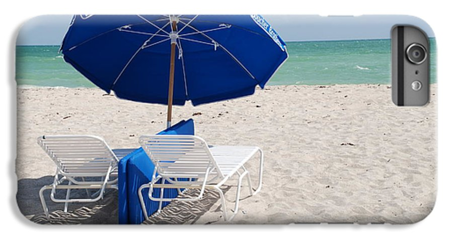 Sea Scape IPhone 6 Plus Case featuring the photograph Blue Paradise Umbrella by Rob Hans