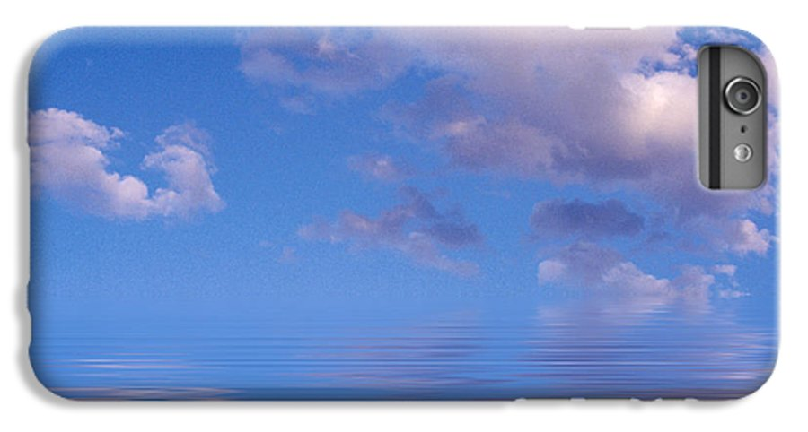 Original Art IPhone 6 Plus Case featuring the photograph Blue Sky Reflections by Jerry McElroy