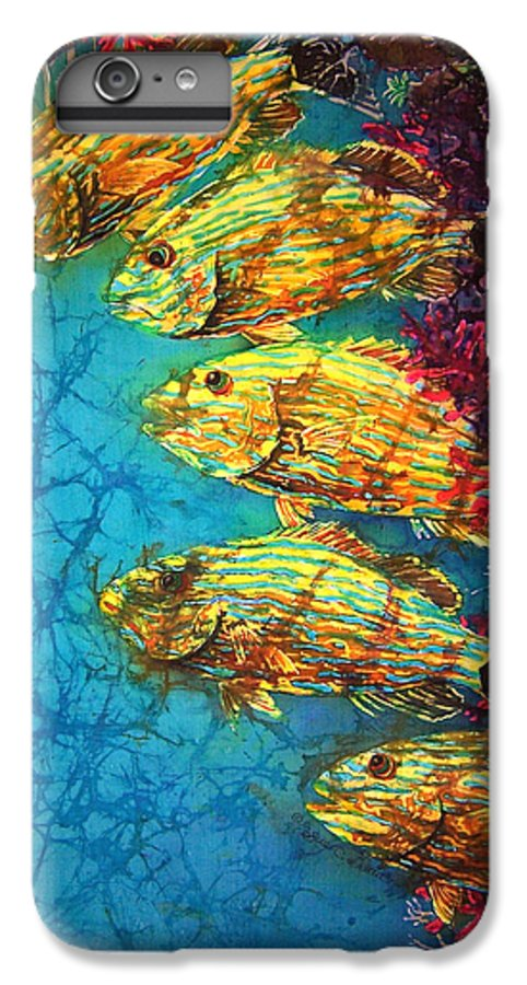 Bluestriped Grunts IPhone 6 Plus Case featuring the painting Bluestriped Grunts by Sue Duda