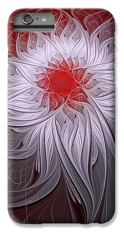 Digital Art IPhone 6 Plus Case featuring the digital art Blush by Amanda Moore