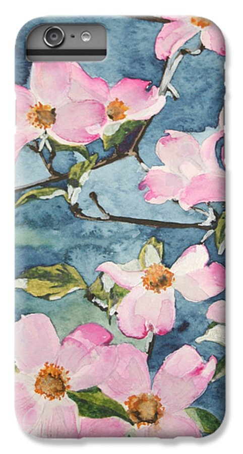 Flowers IPhone 6 Plus Case featuring the painting Blushing Prettily by Jean Blackmer