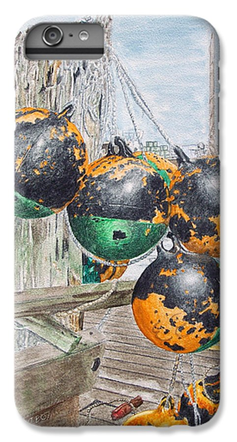 Boat Bumpers IPhone 6 Plus Case featuring the painting Boat Bumpers by Dominic White