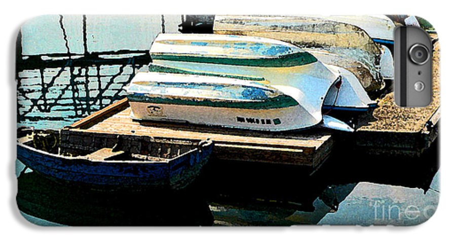 Boats IPhone 6 Plus Case featuring the photograph Boats In Waiting by Larry Keahey