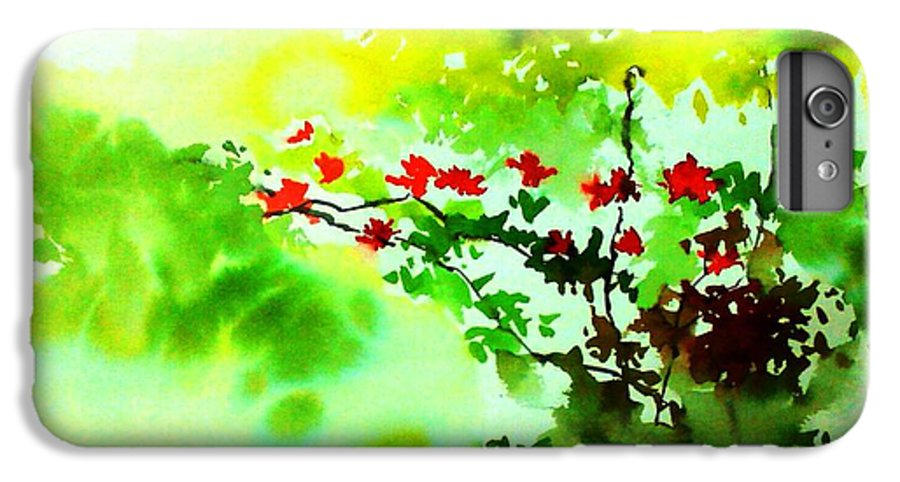 Floral IPhone 6 Plus Case featuring the painting Boganwel by Anil Nene