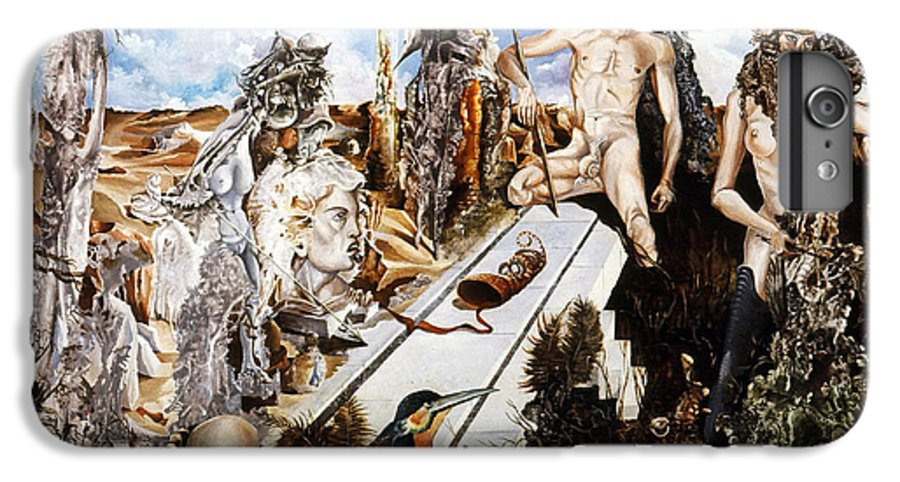 Surrealism IPhone 6 Plus Case featuring the painting Bogomils Court by Otto Rapp