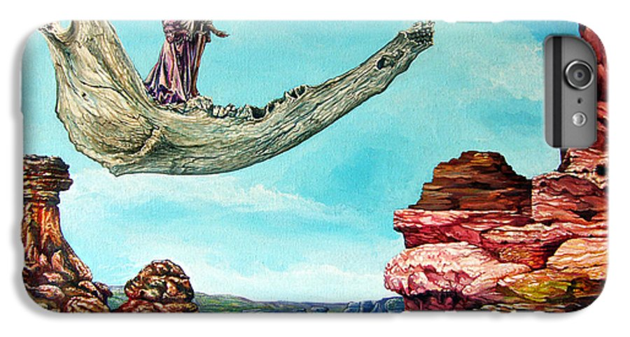 Painting IPhone 6 Plus Case featuring the painting Bogomils Journey by Otto Rapp