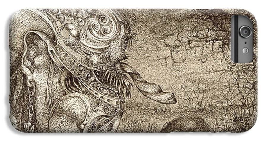 Surreal IPhone 6 Plus Case featuring the drawing Bogomils Mousetrap by Otto Rapp