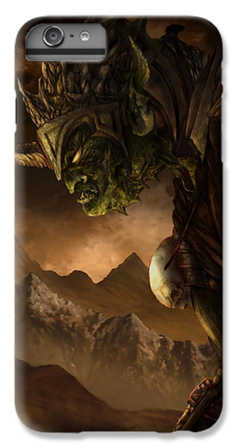 Goblin IPhone 6 Plus Case featuring the mixed media Bolg The Goblin King by Curtiss Shaffer