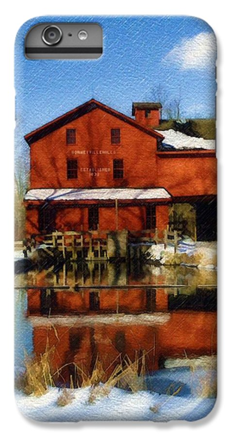 Bonneyville Mill IPhone 6 Plus Case featuring the photograph Bonneyville In Winter by Sandy MacGowan