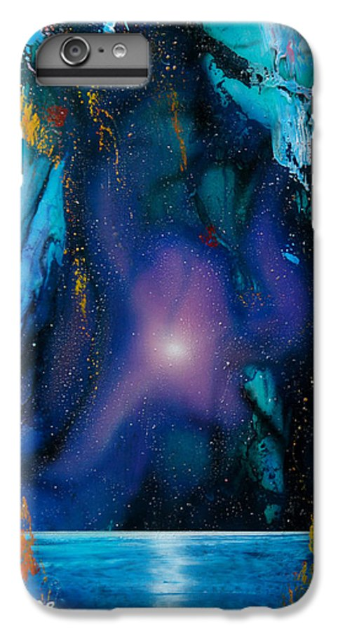 Nebula Caribe IPhone 6 Plus Case featuring the painting Borealis by Angel Ortiz