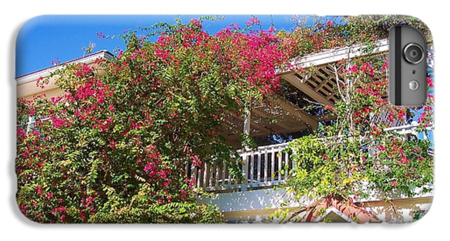 Flowers IPhone 6 Plus Case featuring the photograph Bougainvillea Villa by Debbi Granruth