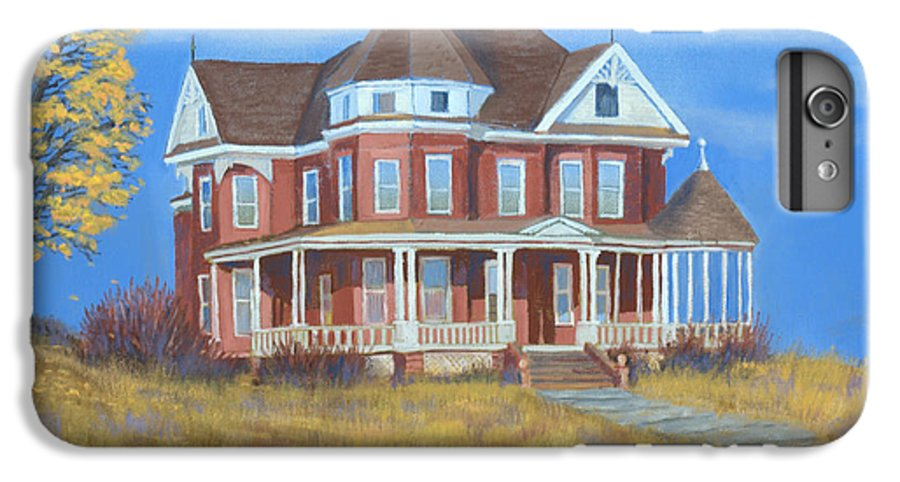Boulder IPhone 6 Plus Case featuring the painting Boulder Victorian by Jerry McElroy