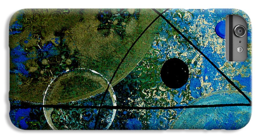 Abstract IPhone 6 Plus Case featuring the painting Bouncer by Ruth Palmer