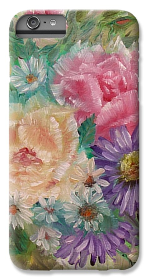 Rose IPhone 6 Plus Case featuring the painting Bouquet 2 by Quwatha Valentine