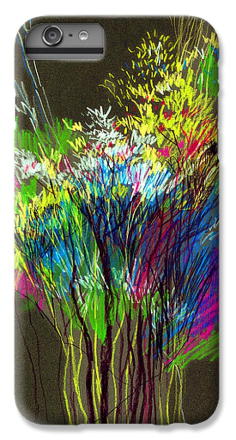 Flowers IPhone 6 Plus Case featuring the painting Bouquet by Anil Nene