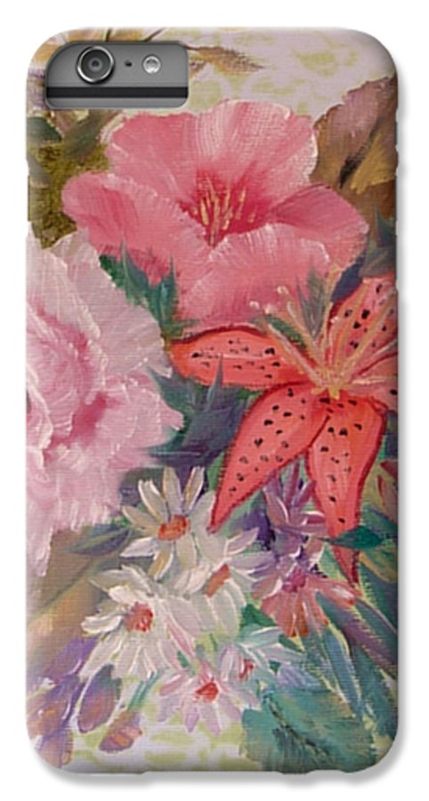 Rose IPhone 6 Plus Case featuring the painting Bouquet by Quwatha Valentine