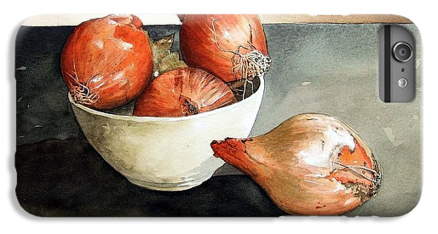 Still Life IPhone 6 Plus Case featuring the painting Bowl Of Onions by Paul Dene Marlor