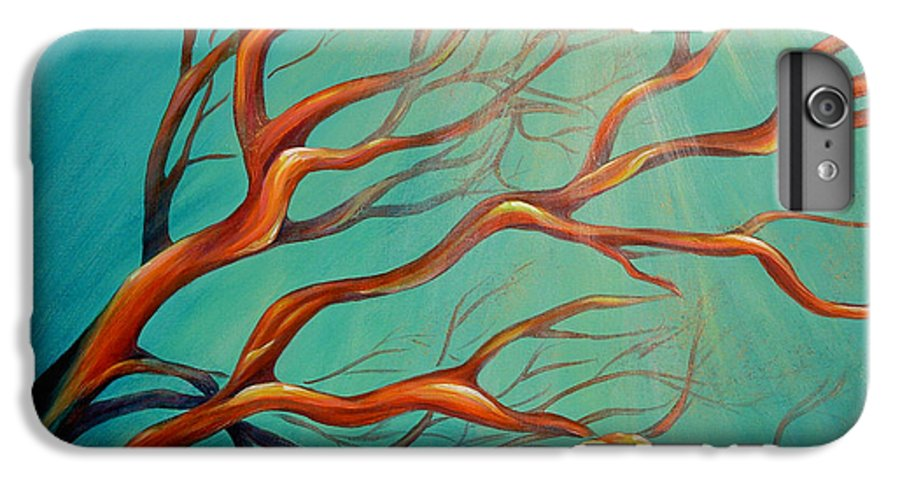 Coral Sea Ocean Underwater Beach Aquatic Reef Diving Contemporary Close-up Aquatica Series IPhone 6 Plus Case featuring the painting Branching Out by Dina Dargo