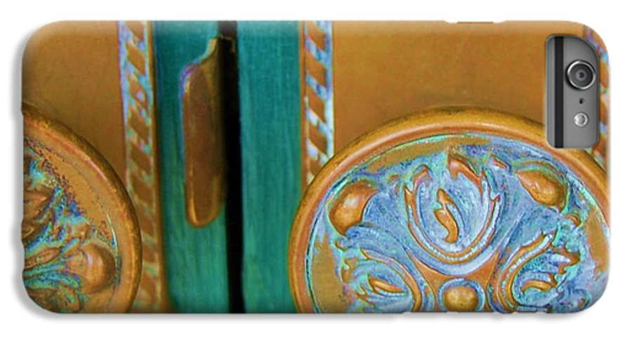 Door IPhone 6 Plus Case featuring the photograph Brass Is Green by Debbi Granruth