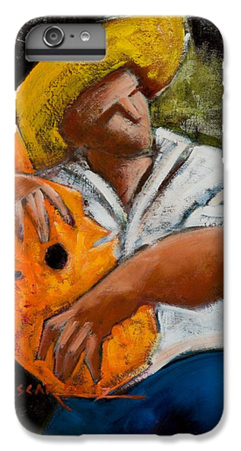 Puerto Rico IPhone 6 Plus Case featuring the painting Bravado Alla Prima by Oscar Ortiz
