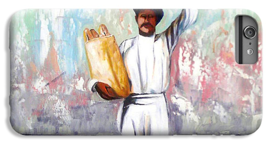 Bread IPhone 6 Plus Case featuring the painting Breadman by Jose Manuel Abraham